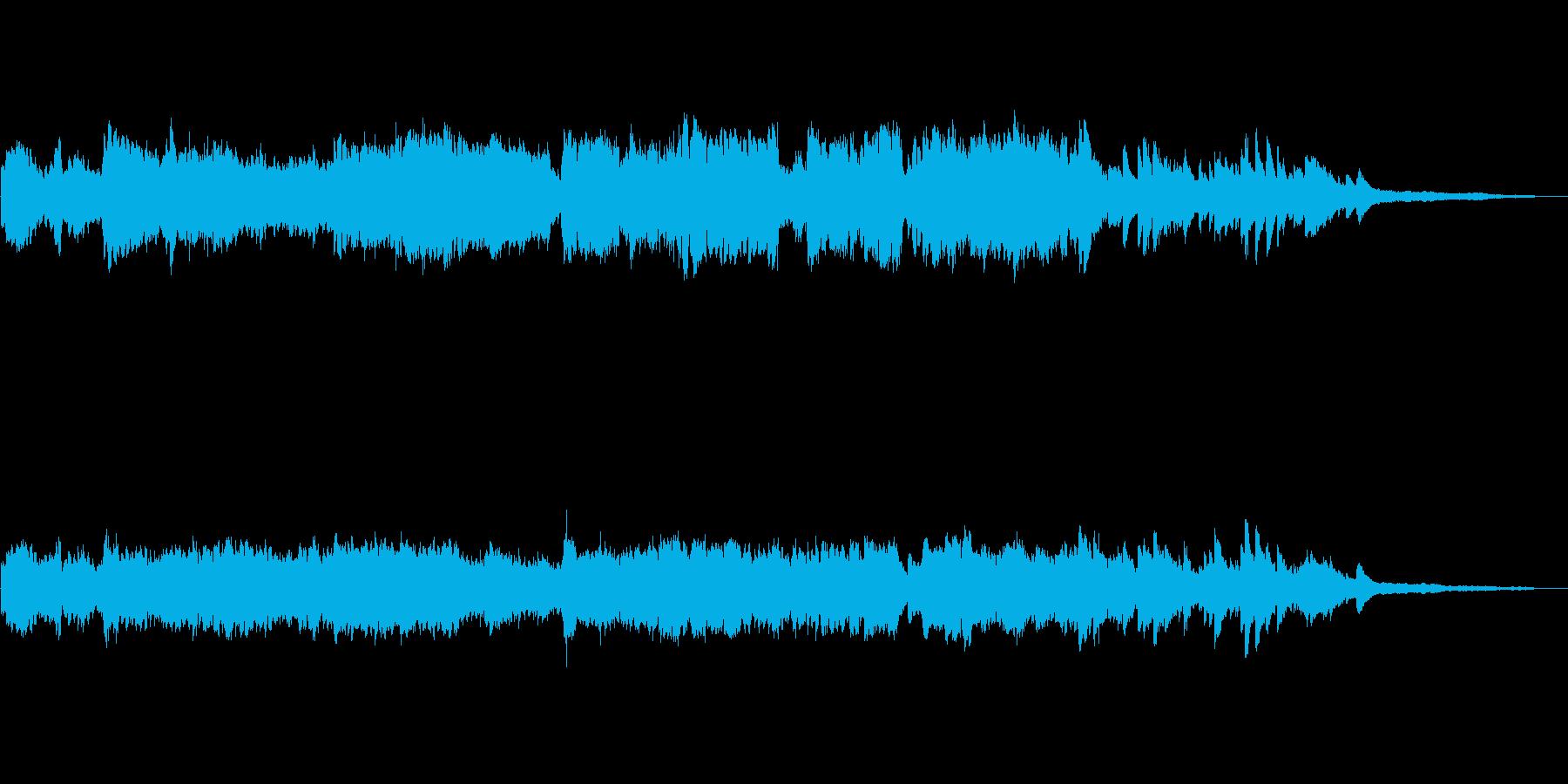 ピアノとフルートのさわやかなバラードの再生済みの波形