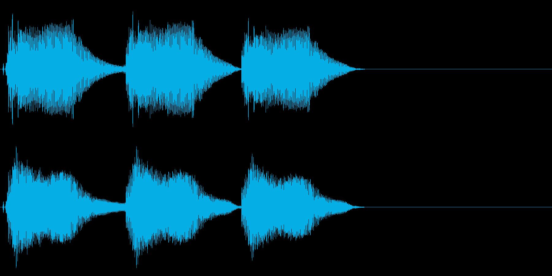 注意、警告音、警報の効果音です!06の再生済みの波形