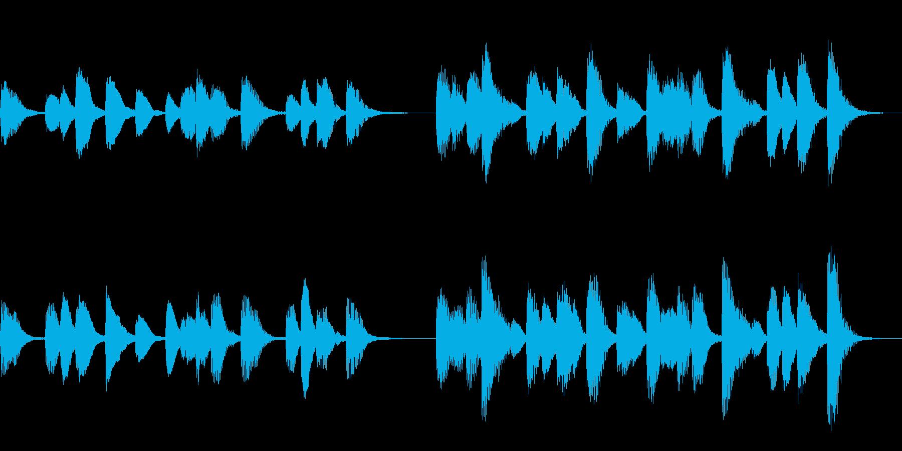ラテン系ピアノソロサウンドの再生済みの波形