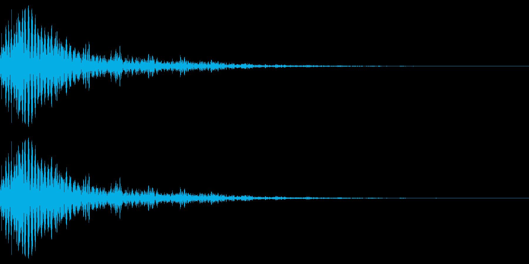 SFメカ等の衝撃音。の再生済みの波形