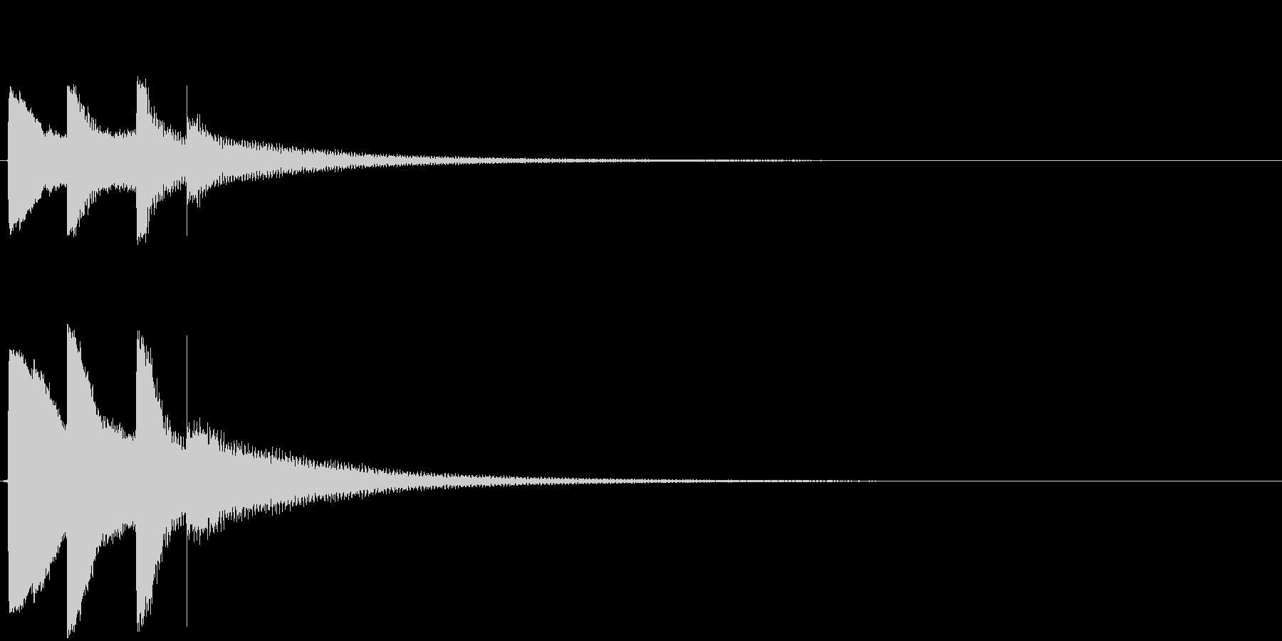 「ピポパポーン」(感づいた音、ヒント)の未再生の波形