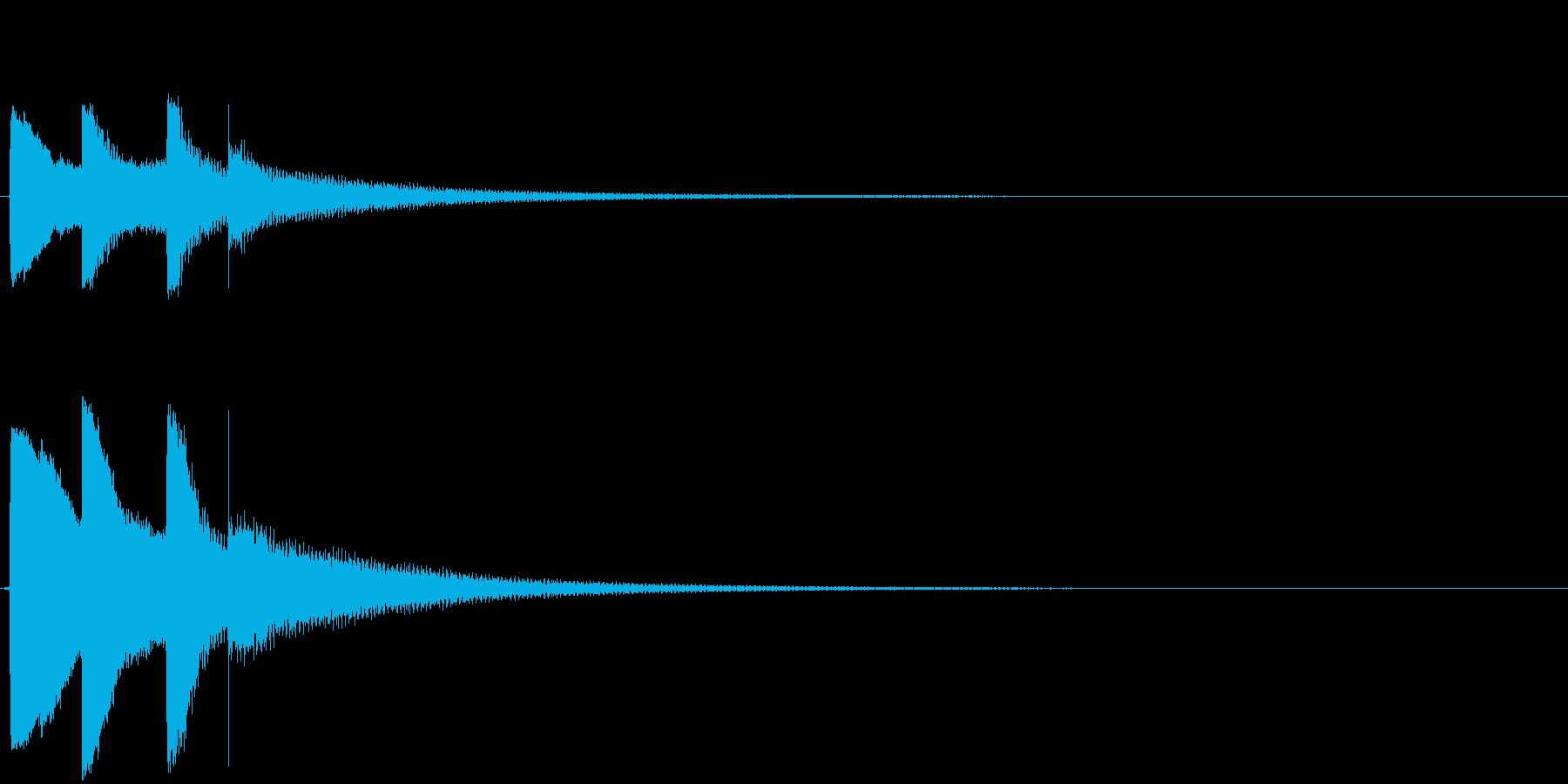 「ピポパポーン」(感づいた音、ヒント)の再生済みの波形
