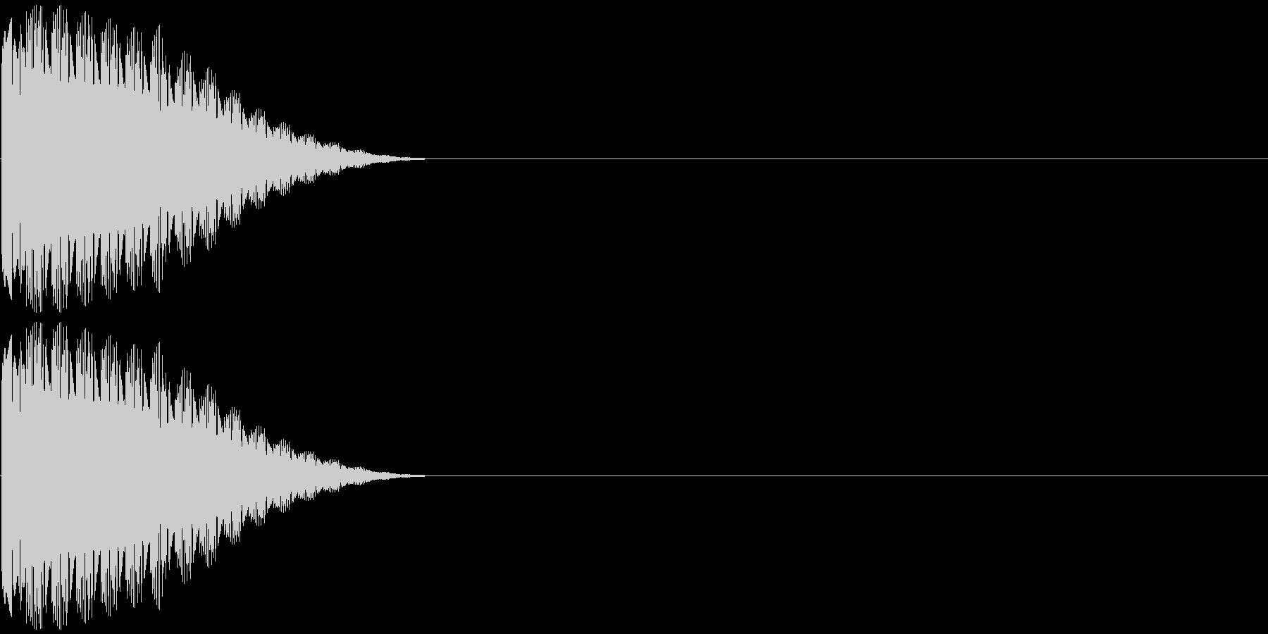 クイズボタンの未再生の波形