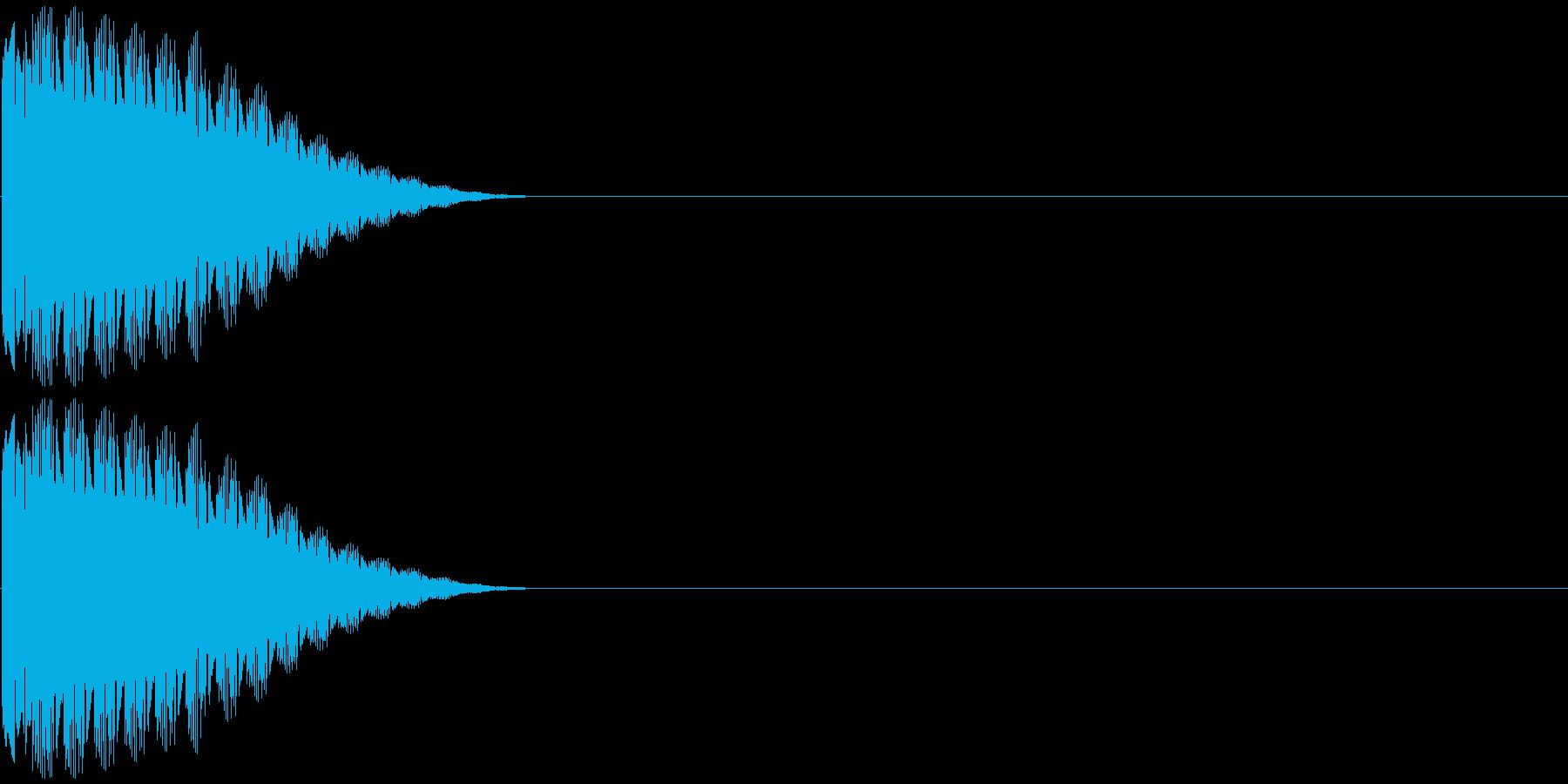 クイズボタンの再生済みの波形