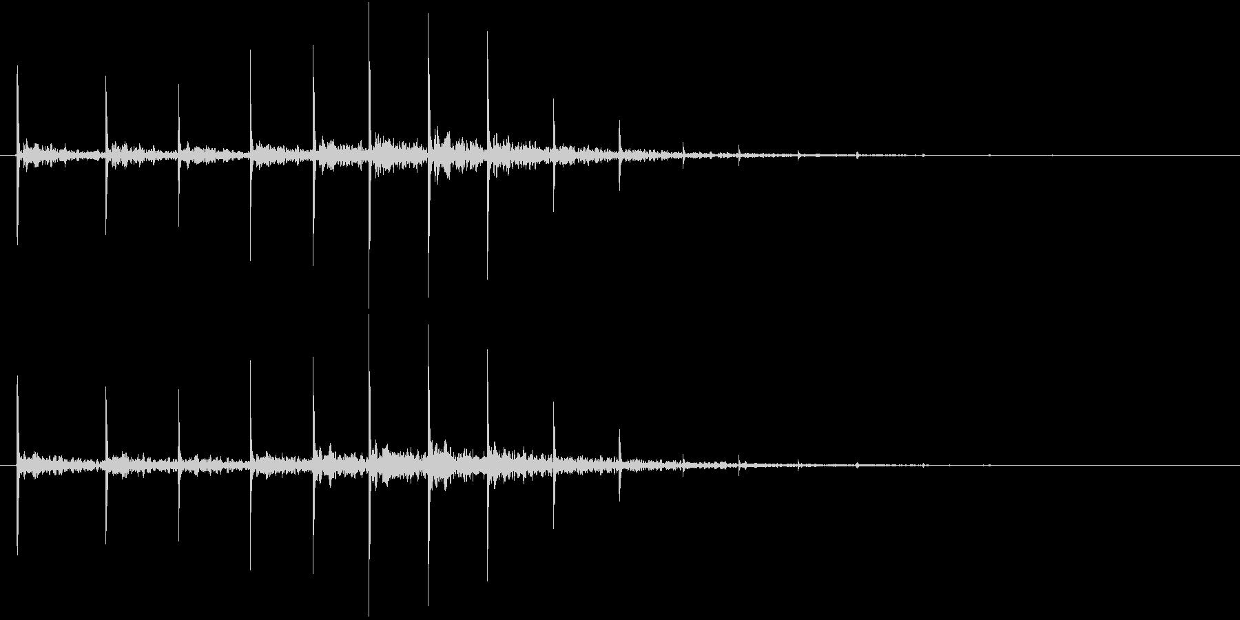 「トントン・・・」石のししおどしリバーブの未再生の波形