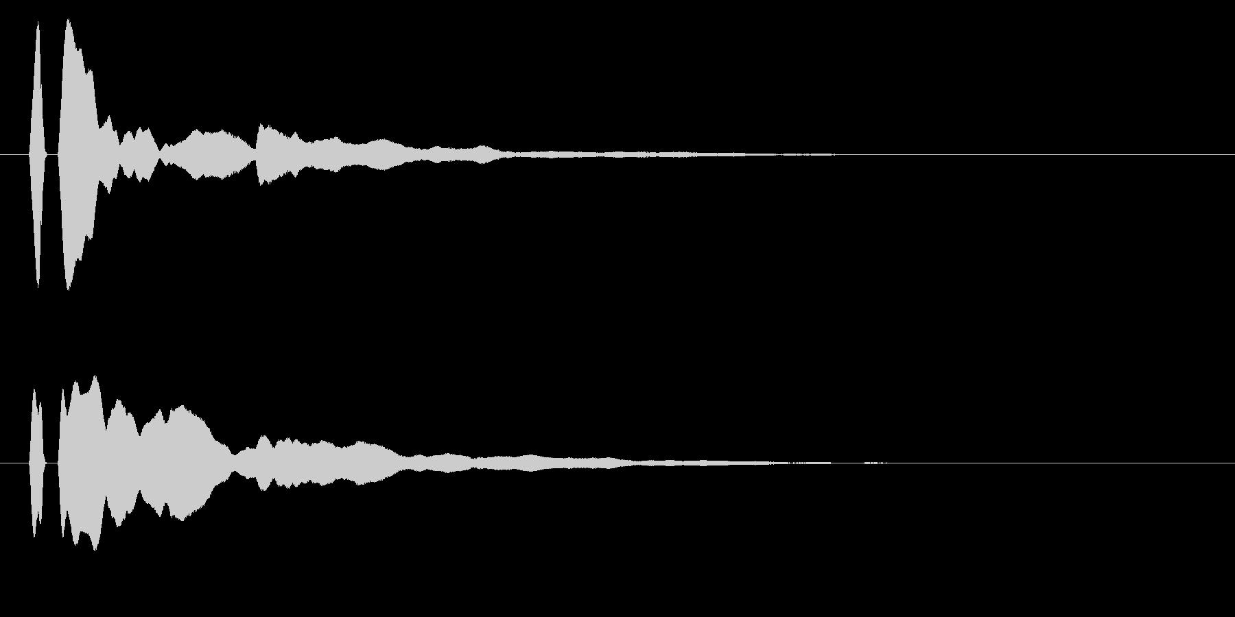 シンプルな決定/ボタン/クリックに最適2の未再生の波形