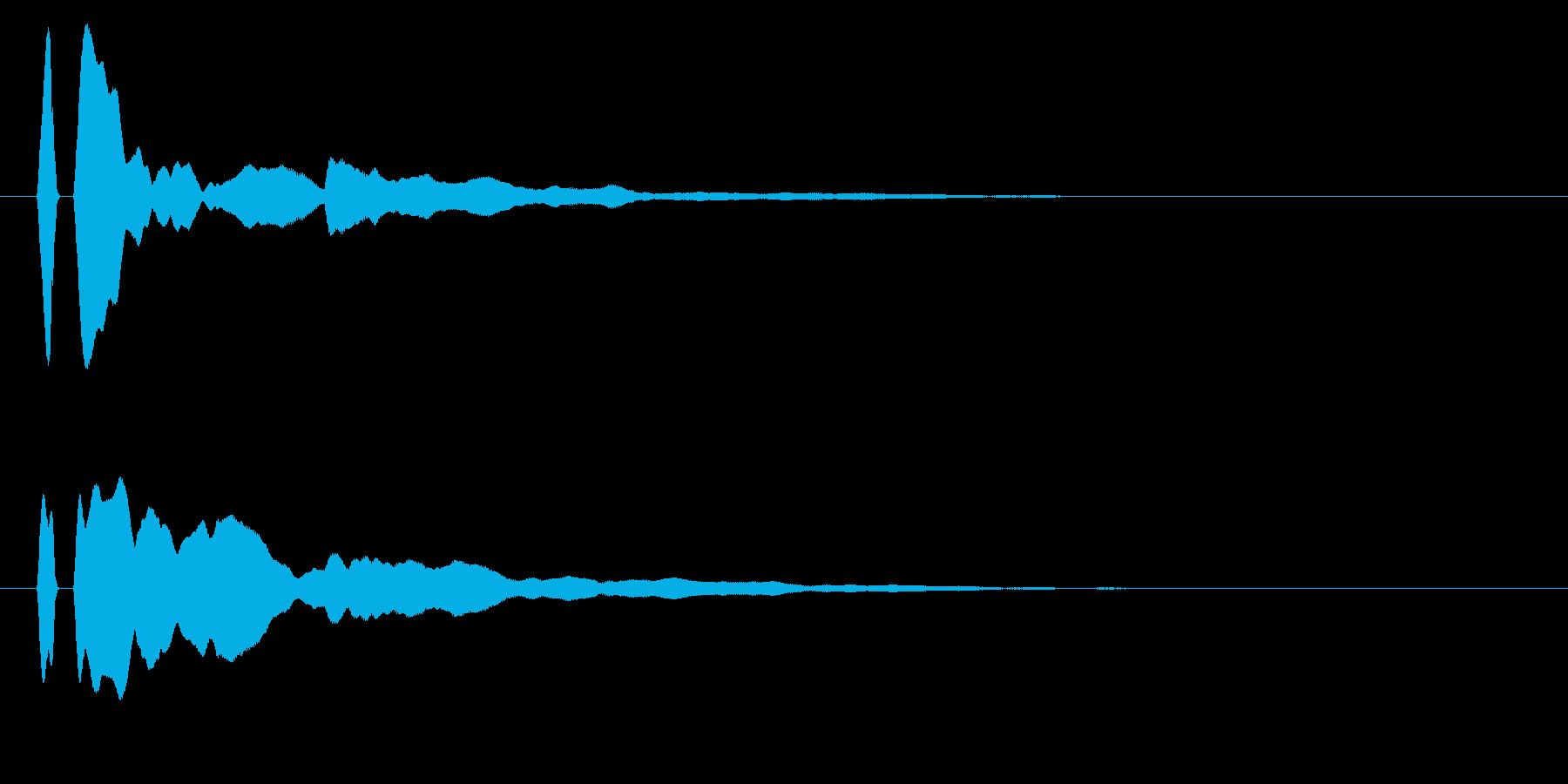 シンプルな決定/ボタン/クリックに最適2の再生済みの波形