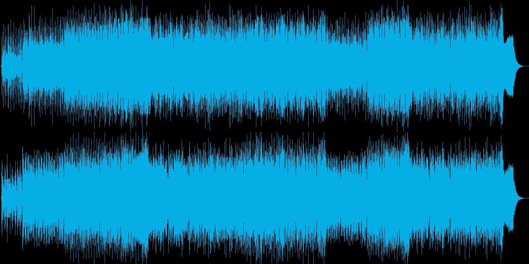 近未来的でかっこいいテクノミュージックの再生済みの波形