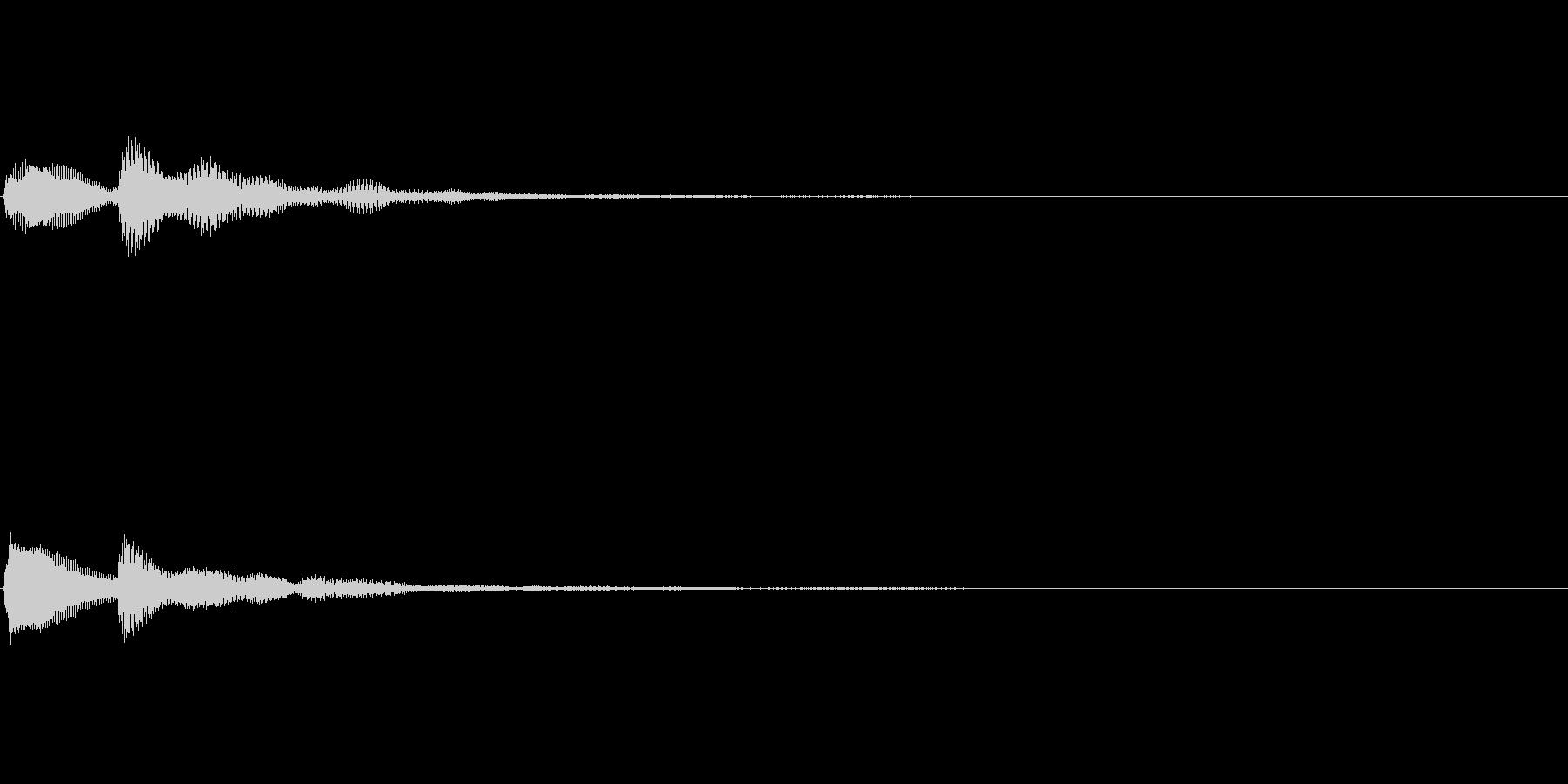 テッローン テロップ・決定音の未再生の波形