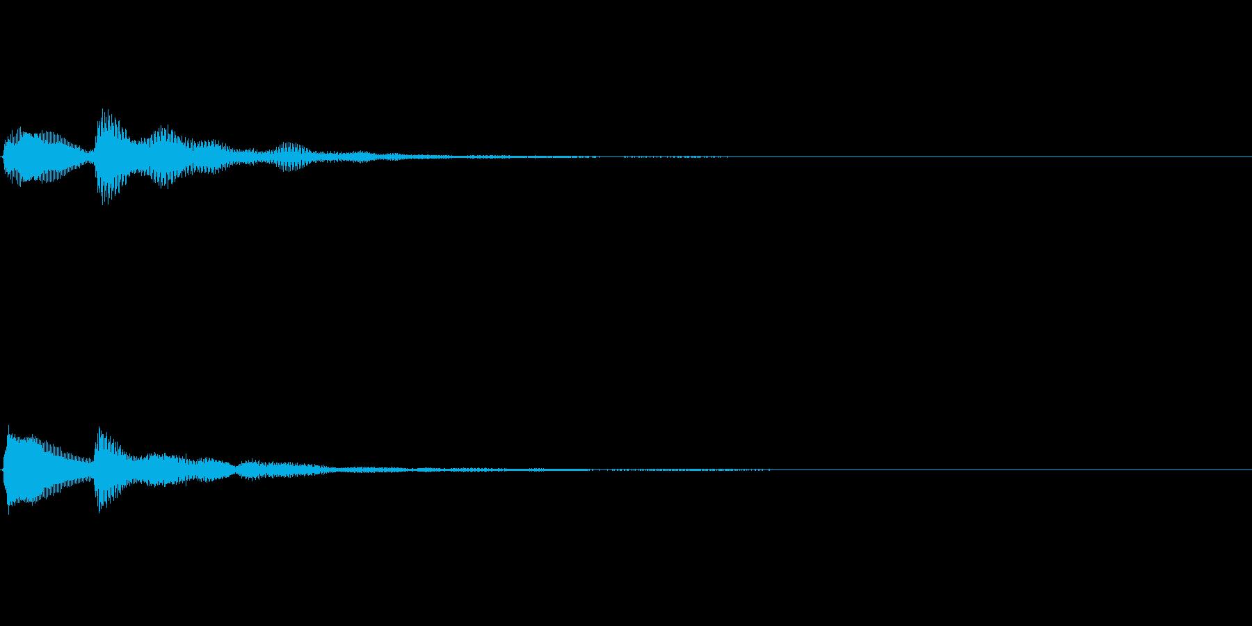 テッローン テロップ・決定音の再生済みの波形