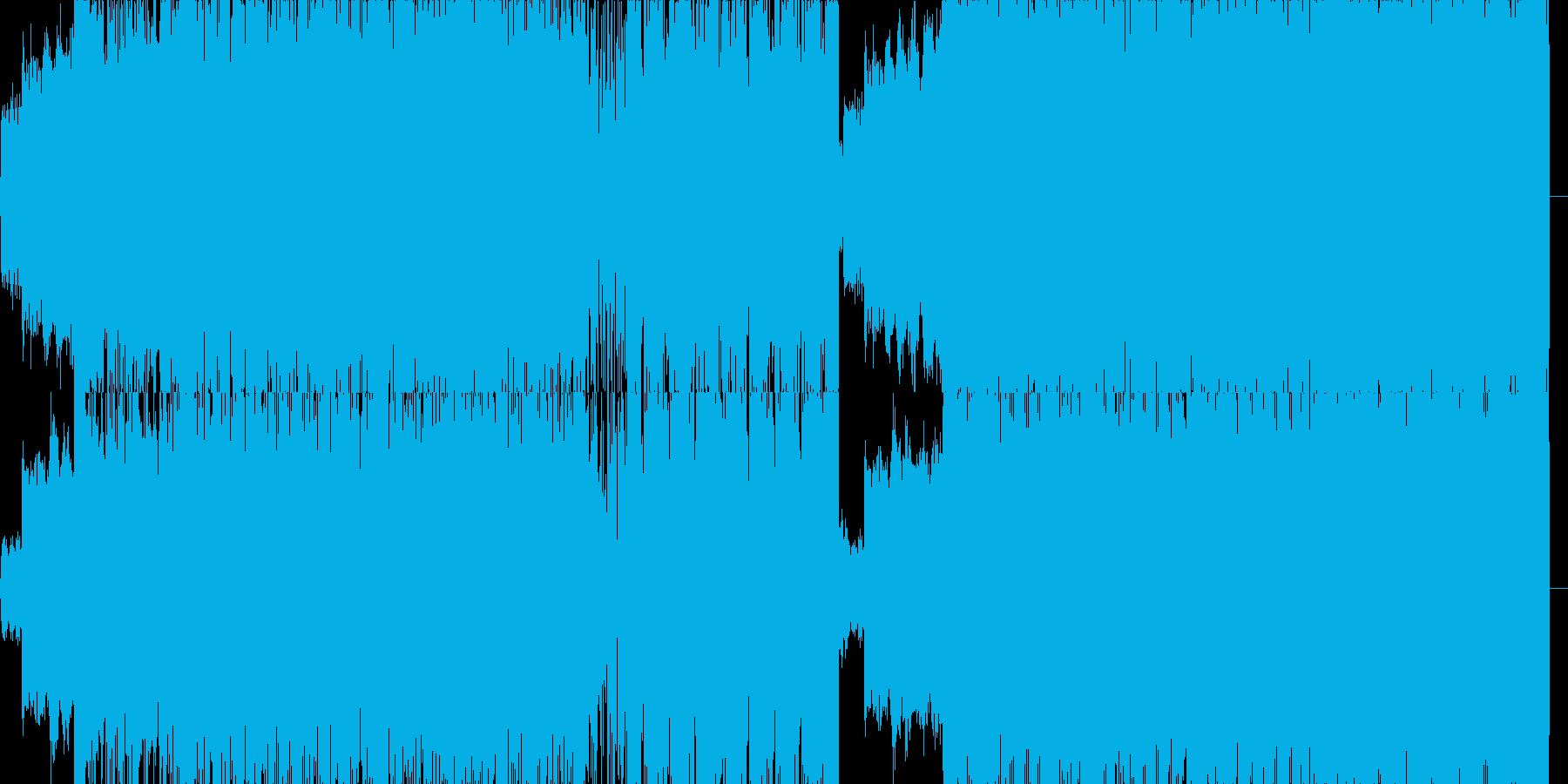 獣の遠吠のような音をノイズで押してくの再生済みの波形