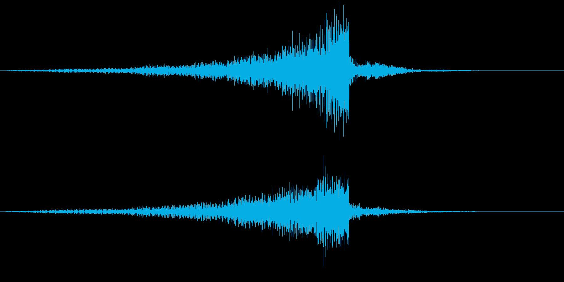 手がかりが見つかる音の再生済みの波形