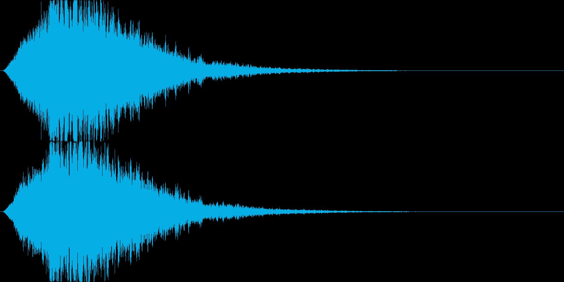 筒の中を瞬間移動するイメージの再生済みの波形