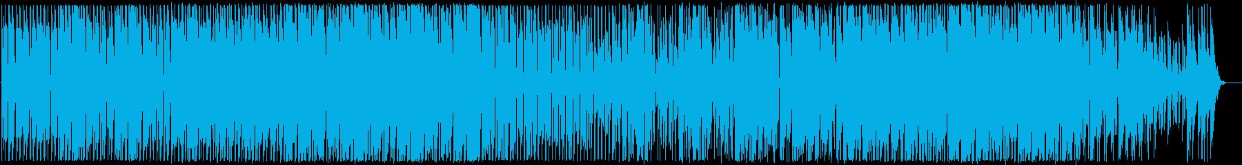 夏の夕方っぽい日常系BGMの再生済みの波形