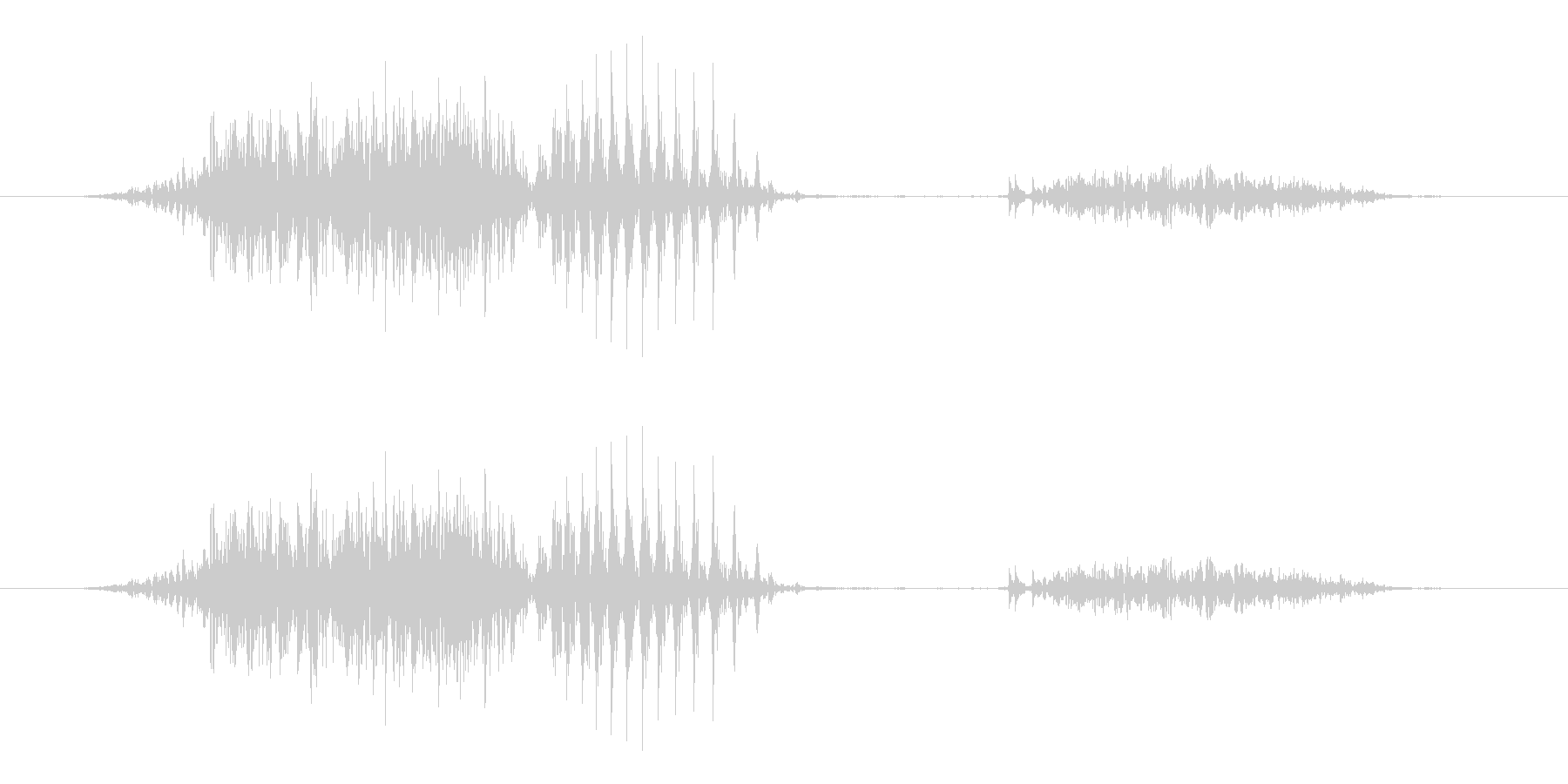 6 (six, 英語、男国女性声優J1)の未再生の波形