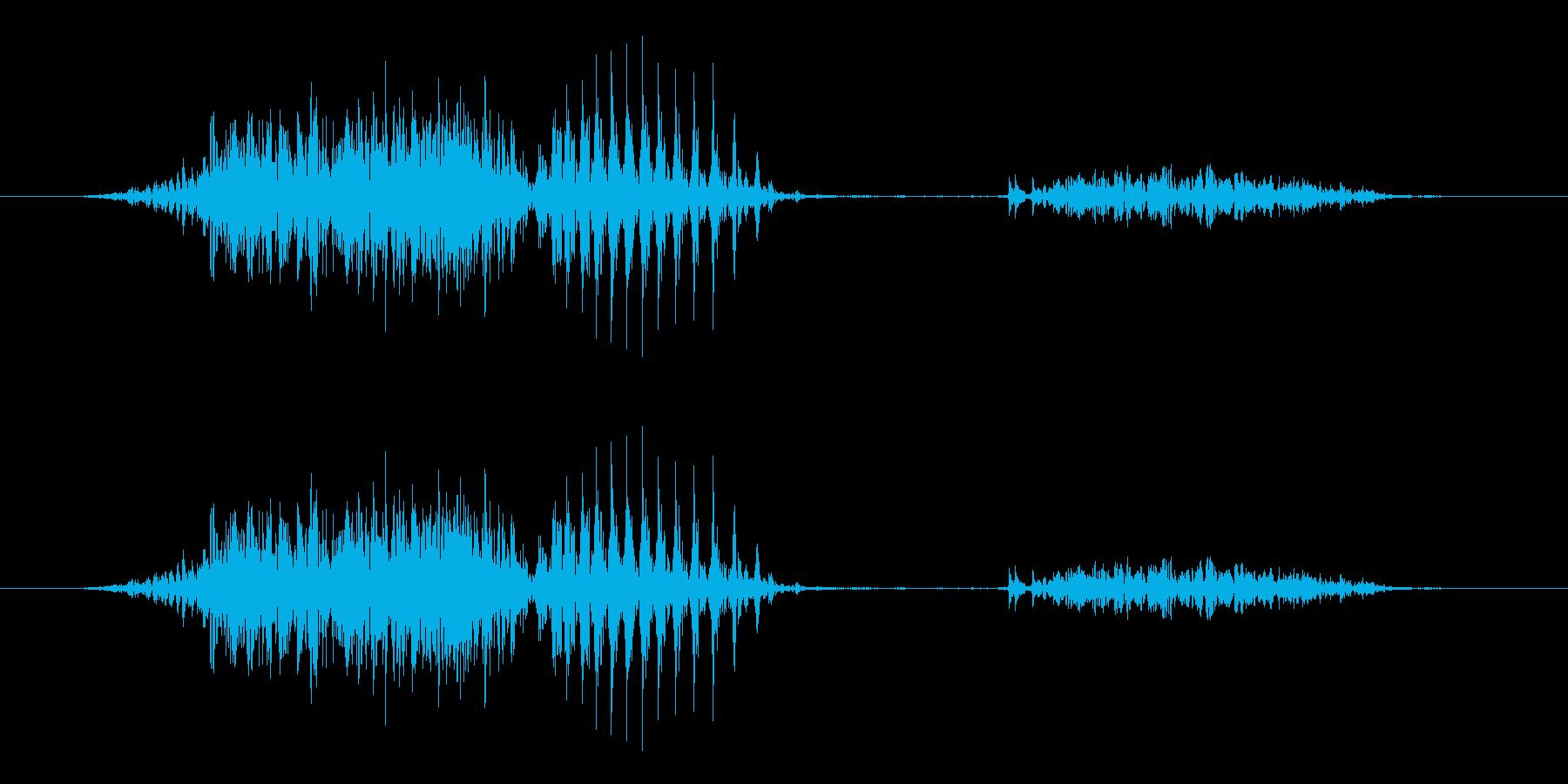 6 (six, 英語、男国女性声優J1)の再生済みの波形