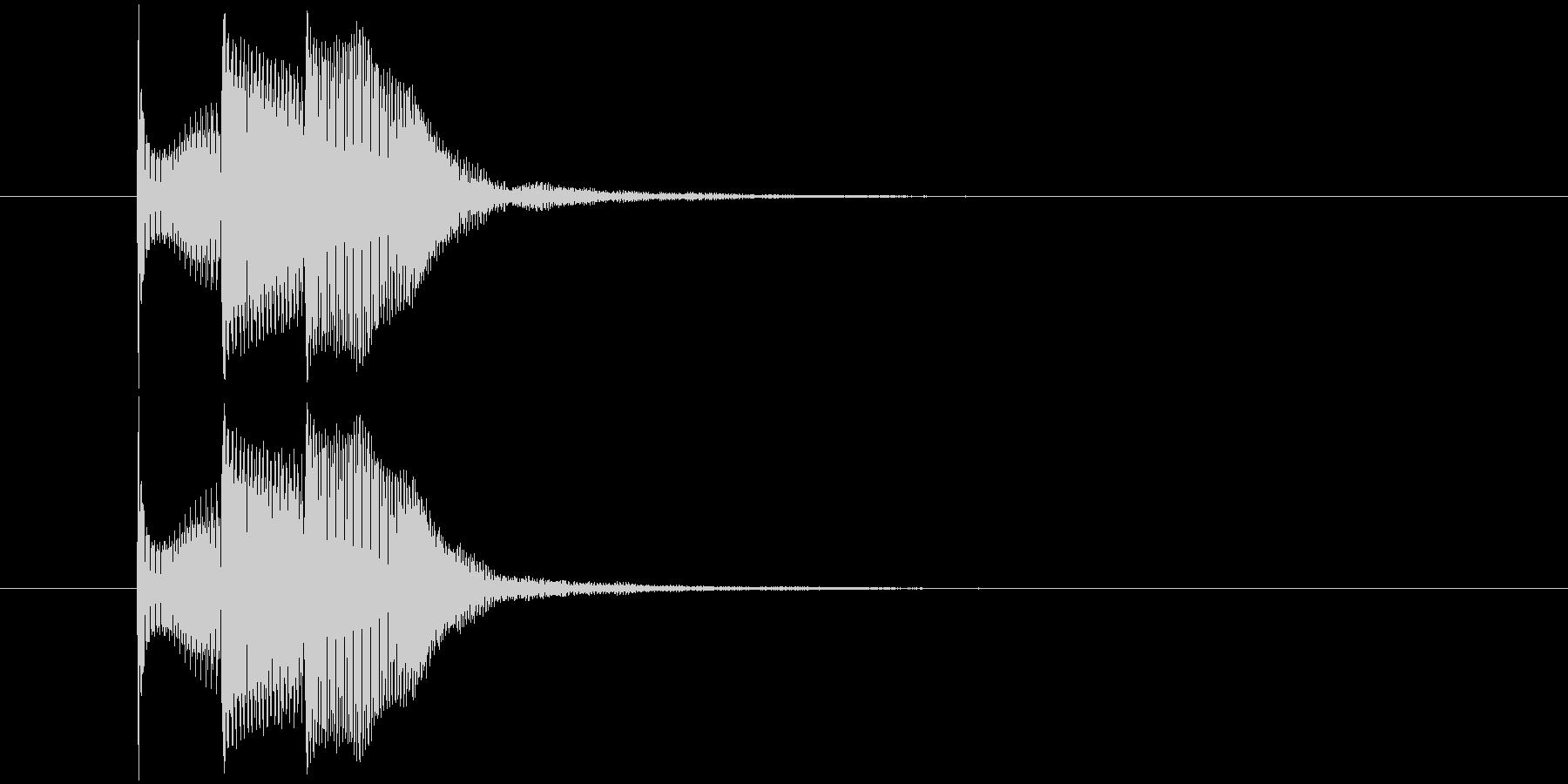 ピコピコ(決定音、ゲーム、アプリ、動画)の未再生の波形