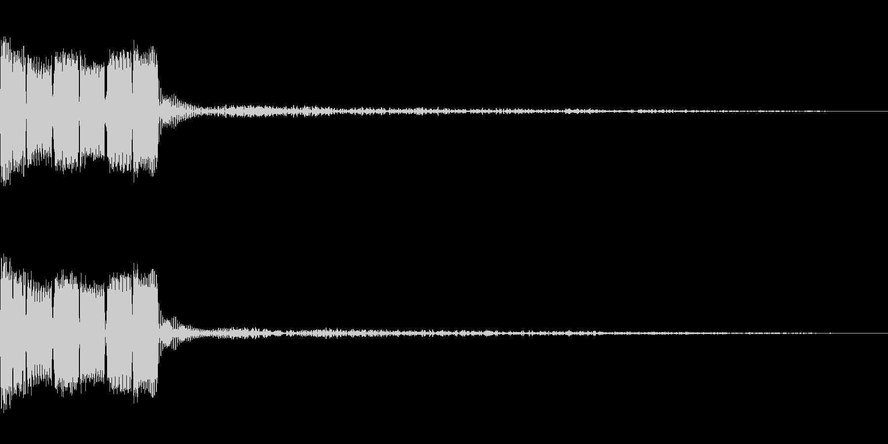 決定ボタン (8bit)の未再生の波形