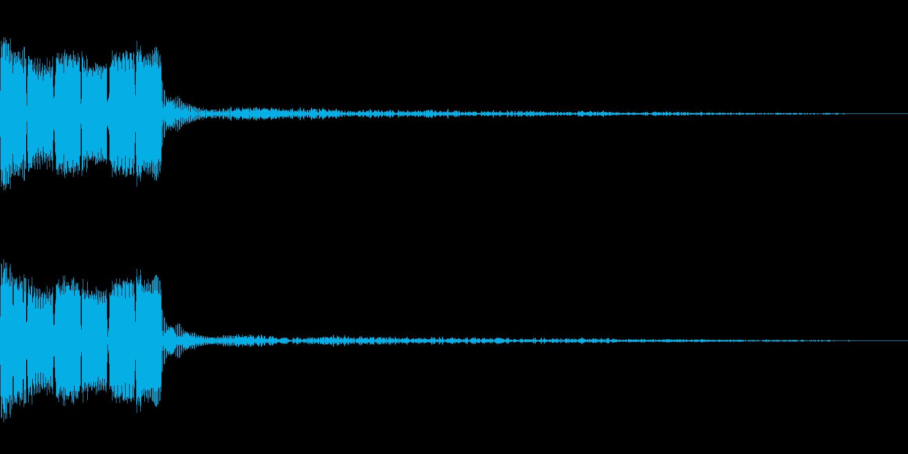 決定ボタン (8bit)の再生済みの波形