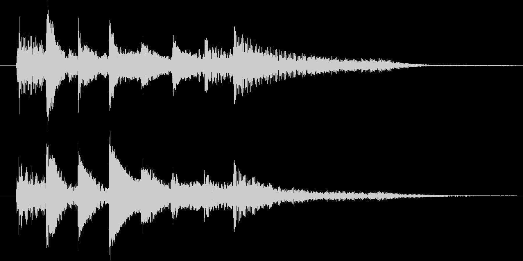 ピアノ転回音8の未再生の波形