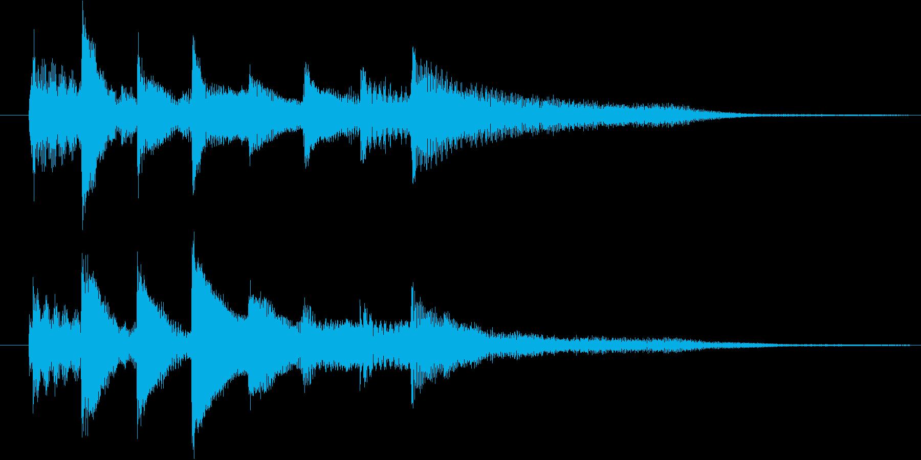 ピアノ転回音8の再生済みの波形