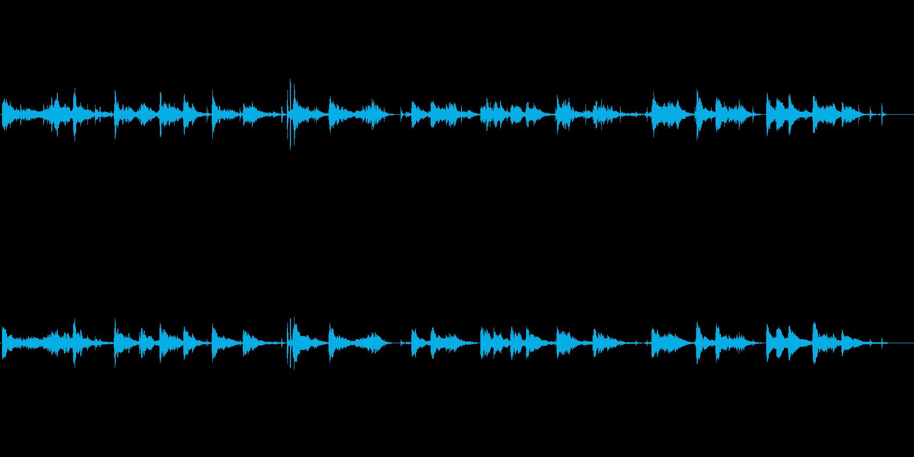 透明感のあるヒーリング・アンビエントの再生済みの波形