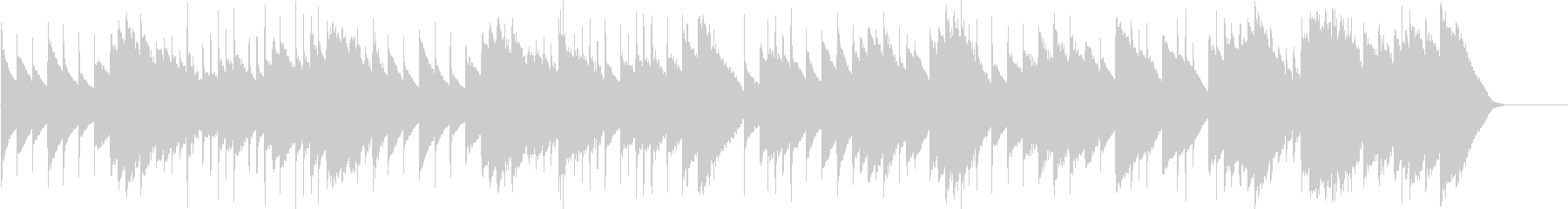 メヌエット ト短調(オルゴール)の未再生の波形