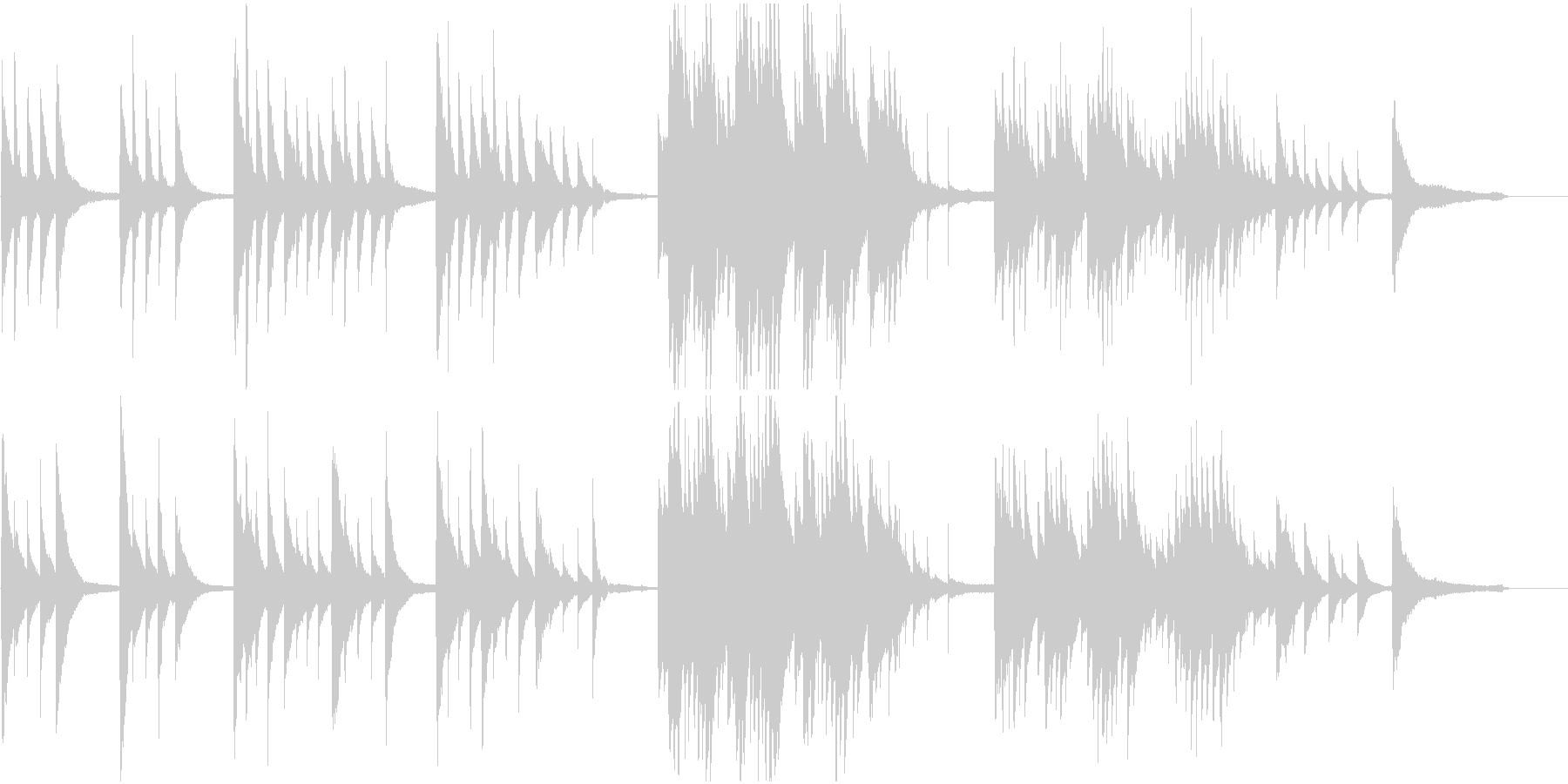 CMや映像に 純真で澄み切ったピアノソロの未再生の波形