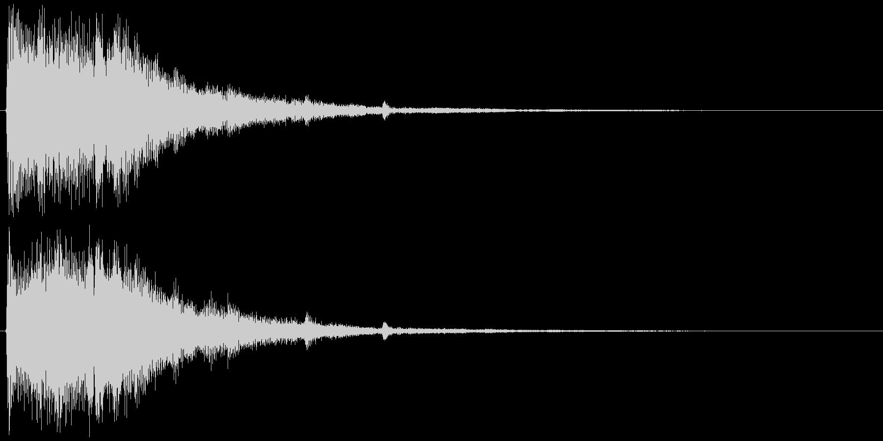 チャララララン↑(決定音、和風、豪華)の未再生の波形