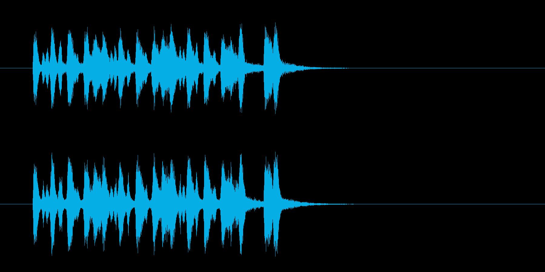 ジングル(マイナー・タンゴ)の再生済みの波形