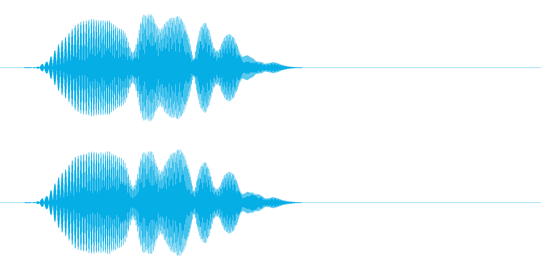 ポヨン(かわいい音)短めの再生済みの波形