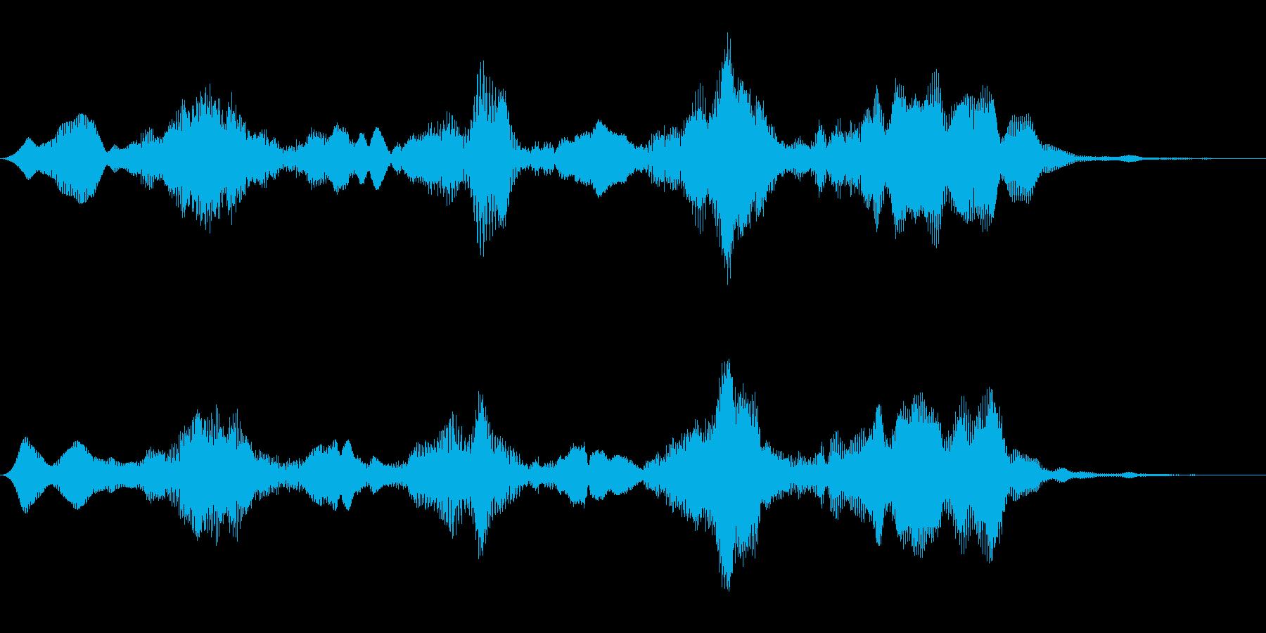 フワーンフワーン・・・(穏やかなシーン)の再生済みの波形