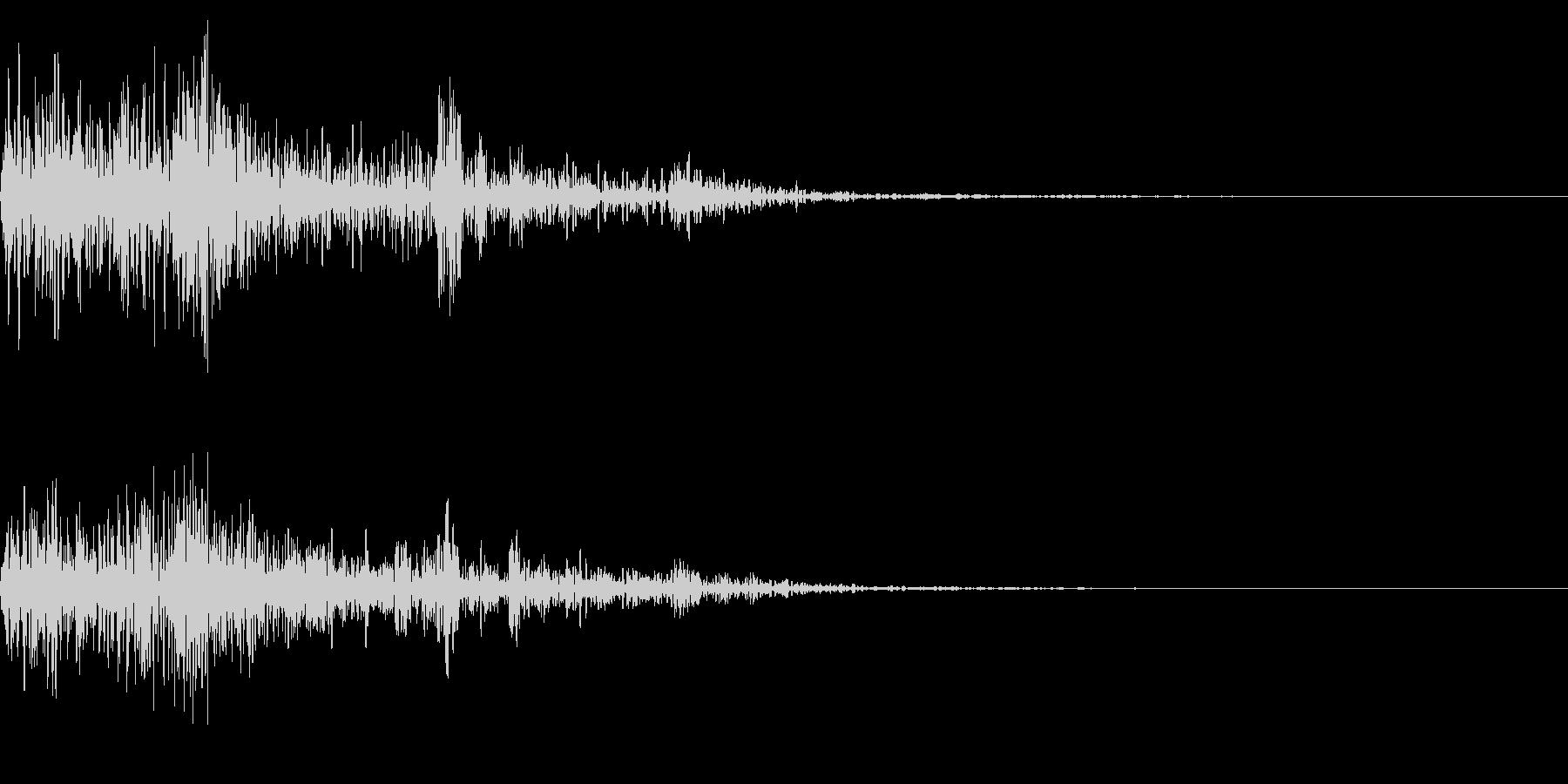 ホラー系アタック音2の未再生の波形