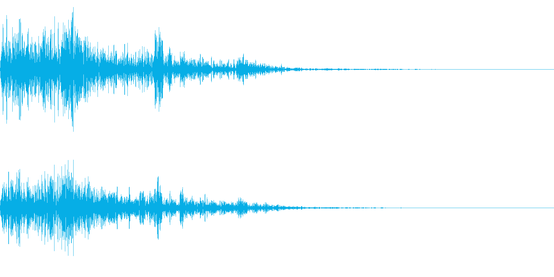 ホラー系アタック音2の再生済みの波形