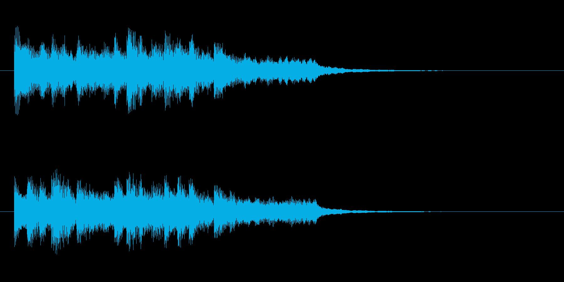 ゲームクリア ポップなジングル 達成の再生済みの波形