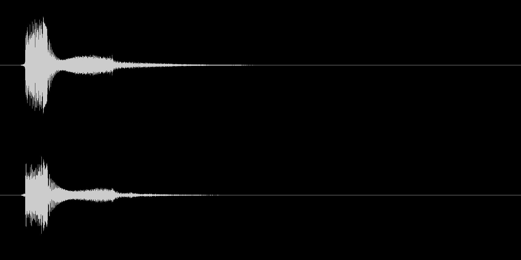 ピシッ(セレクト音)の未再生の波形
