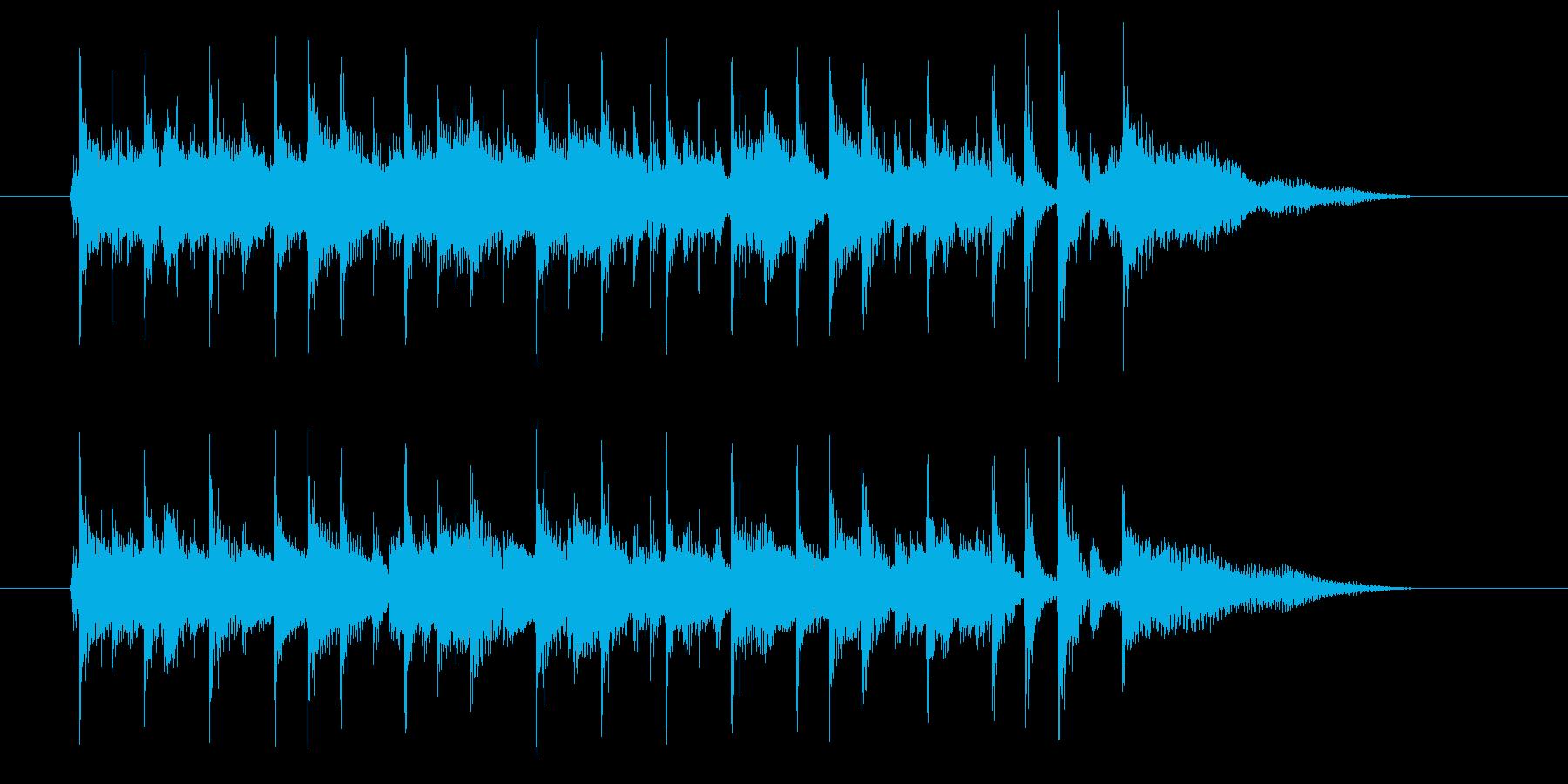 シンセとパーカッションが明るいBGMの再生済みの波形