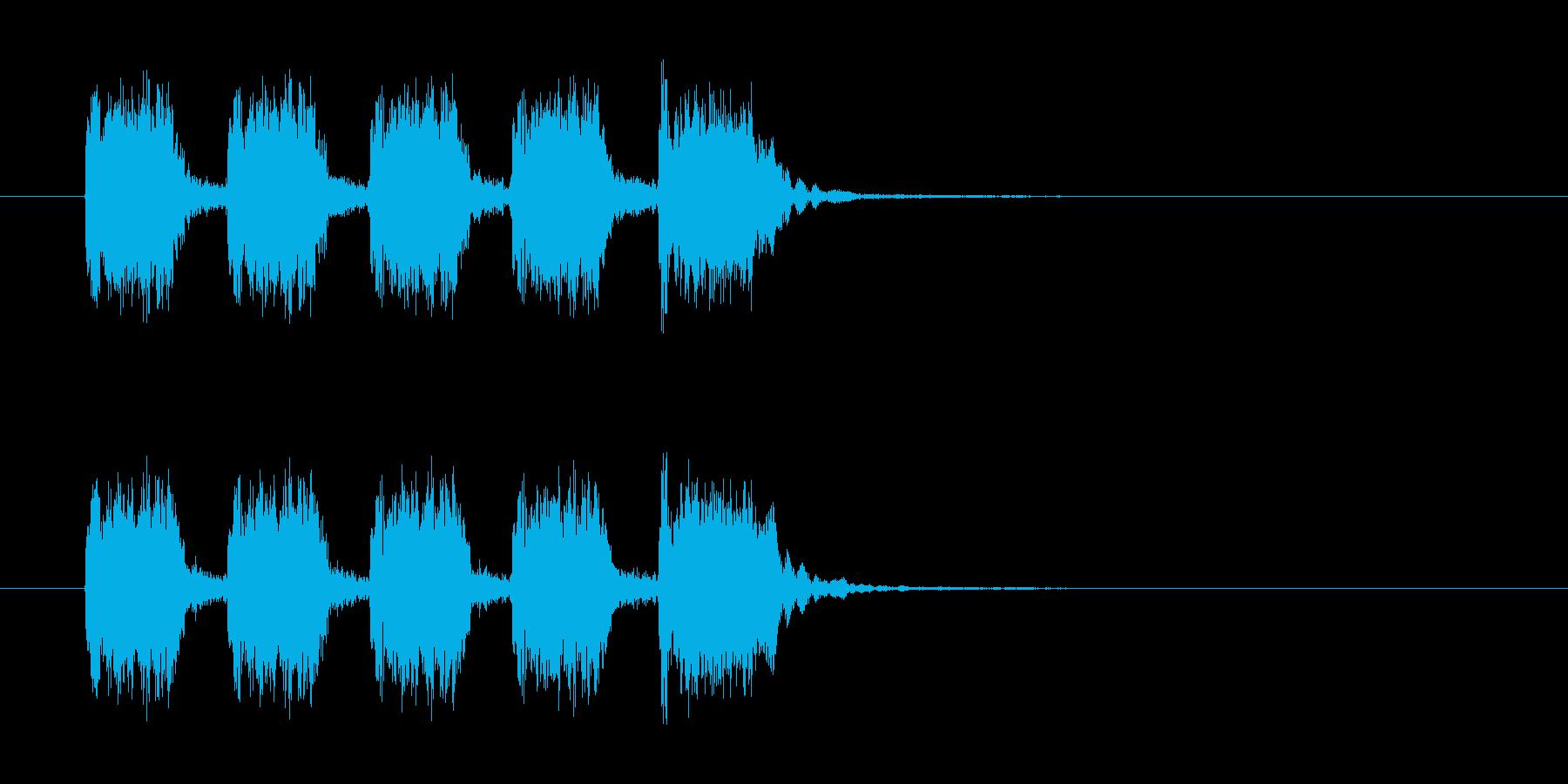 シンプルなリズムを刻んだギター曲の再生済みの波形