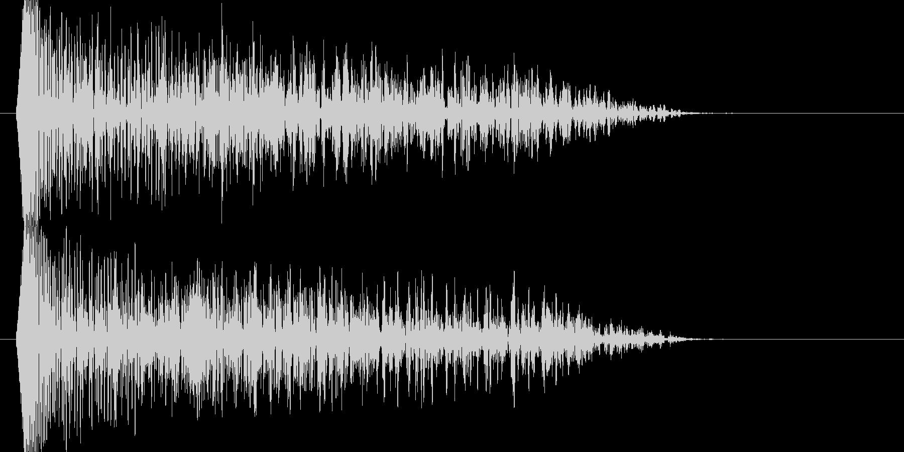 ブォーン、ジリジリジリジリ(衝撃波)の未再生の波形