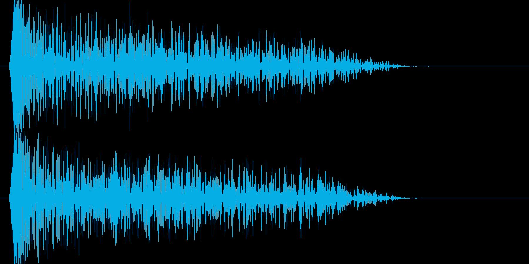 ブォーン、ジリジリジリジリ(衝撃波)の再生済みの波形