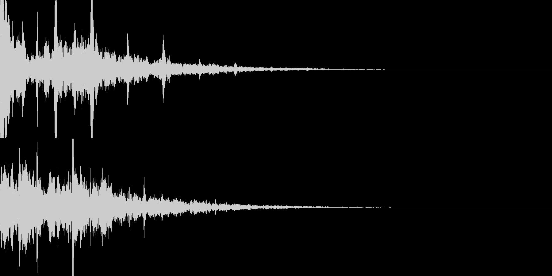 サウンドロゴ30_シンセCGの未再生の波形