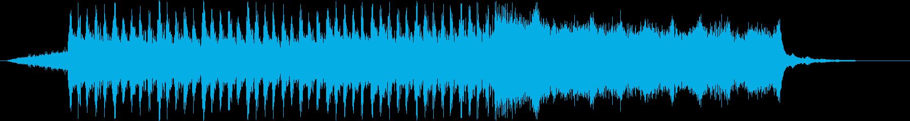 浮遊感、広がりのあるシンセサイザー音の再生済みの波形