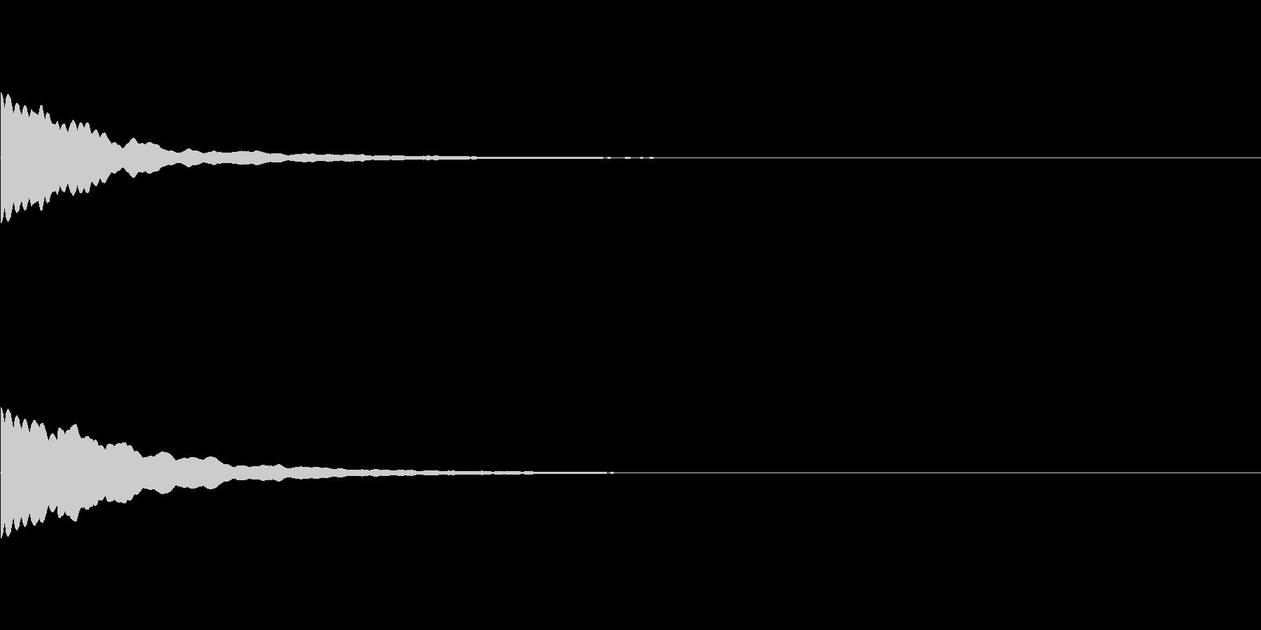 キーン、チーン(光る、ひらめき、発見)の未再生の波形