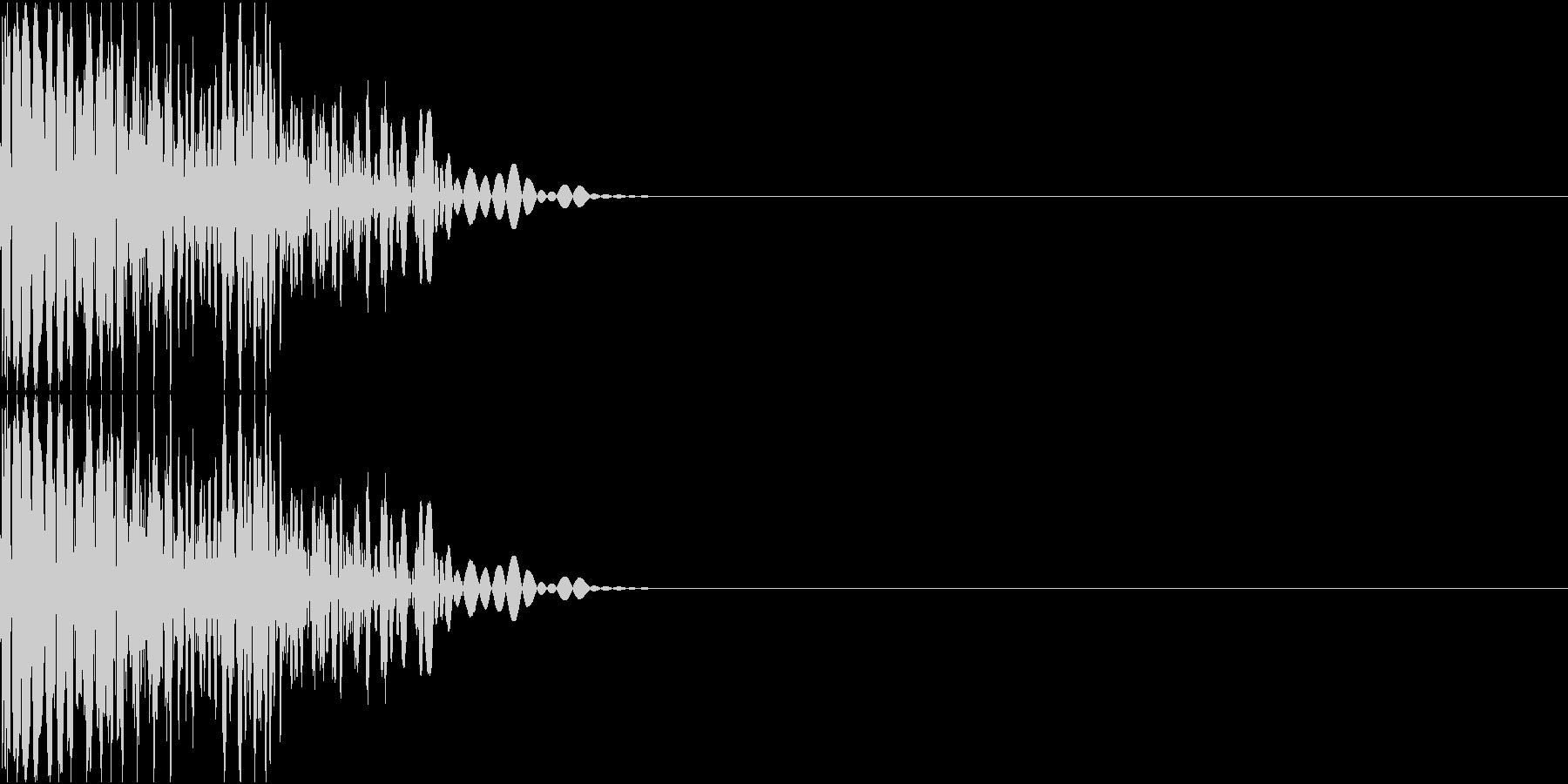 スクラッチ(ターンテーブル、ブレーキ)の未再生の波形