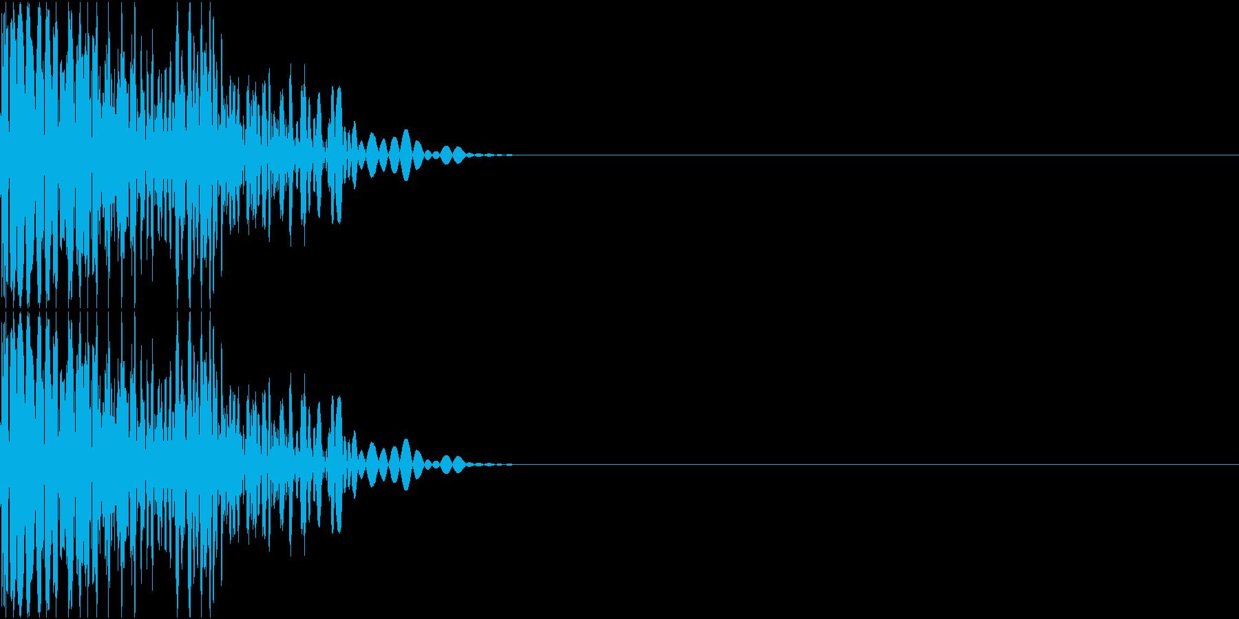 スクラッチ(ターンテーブル、ブレーキ)の再生済みの波形