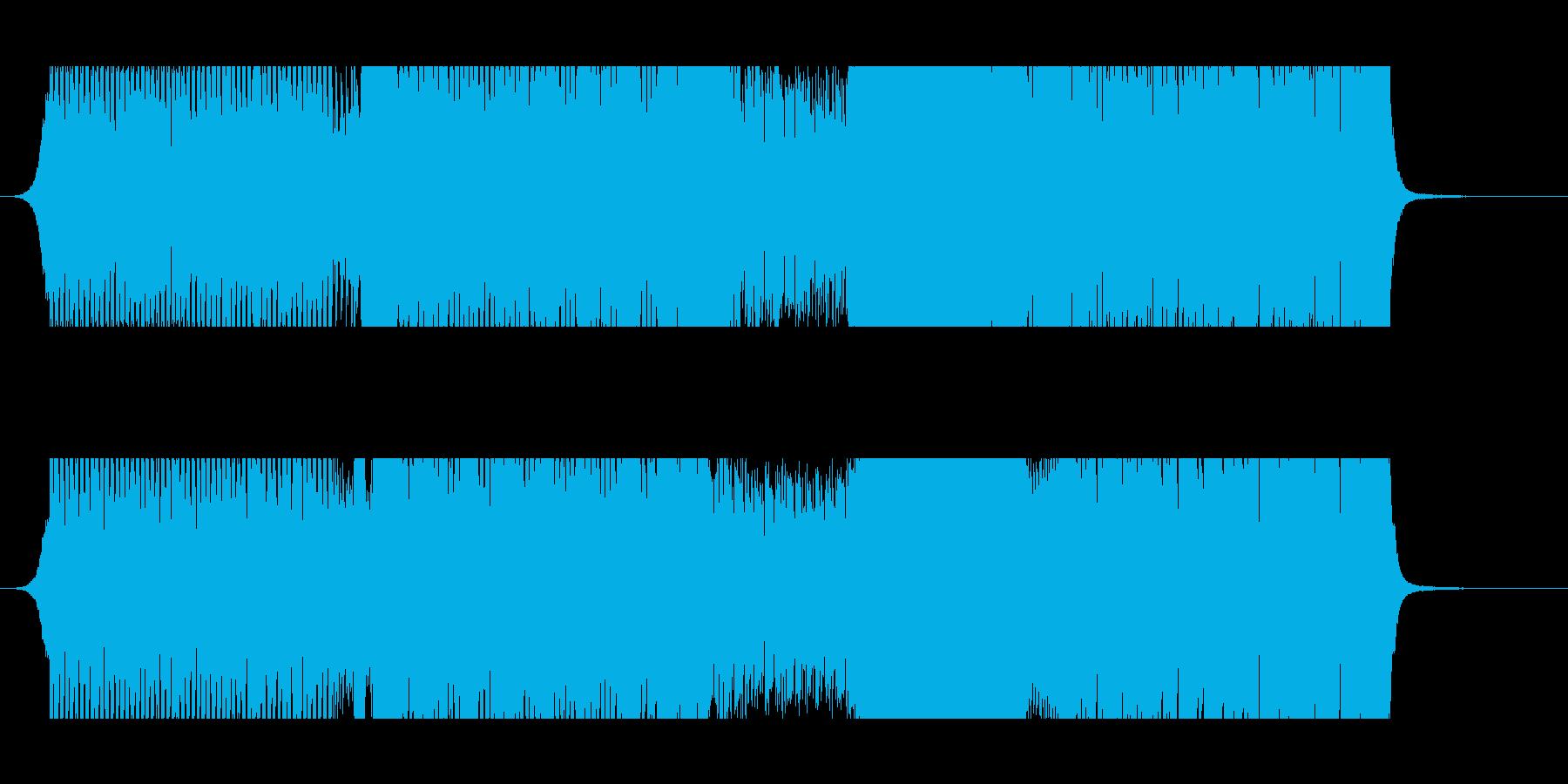 イベント会場などで流す映像用のEDM楽曲の再生済みの波形