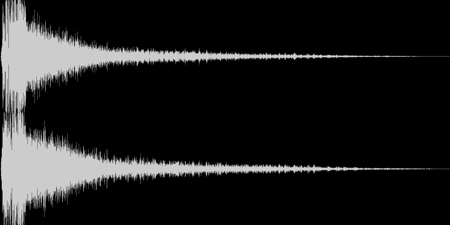 ビーム砲(エネルギーがほとばしる)の未再生の波形