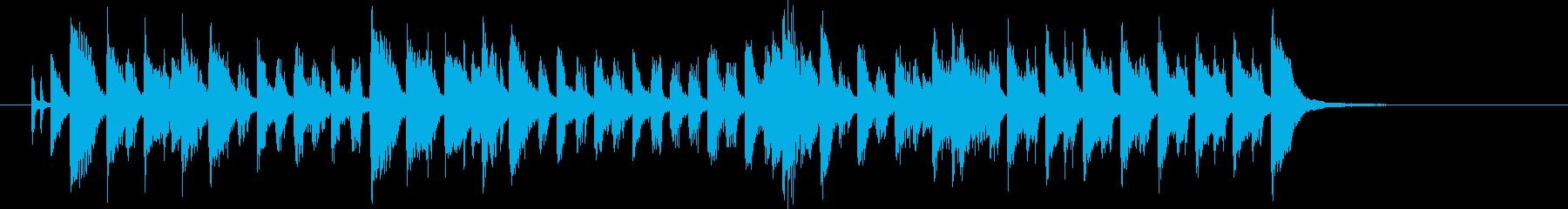 軽やかでムーディなピアノジングルの再生済みの波形
