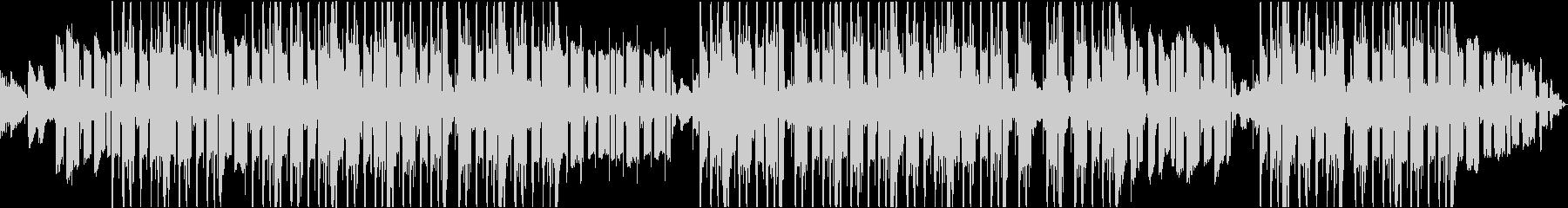 爽やかな重低音トラップビートの未再生の波形