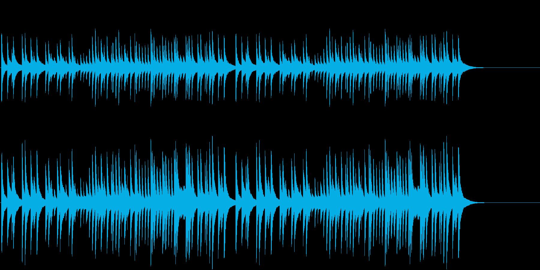 もろびとこぞりてをグロッケンオルゴールでの再生済みの波形